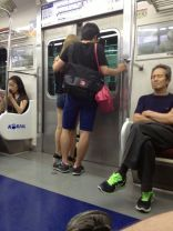 This is a bonus because he is also carrying her purse