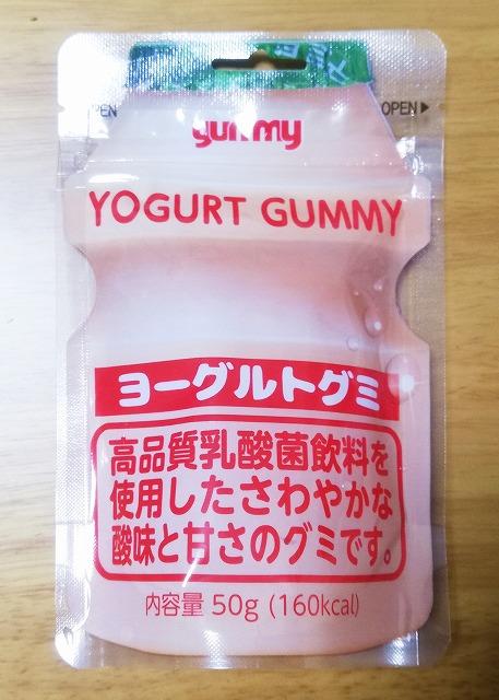 日本語で書かれた韓国ヨーグルトグミ
