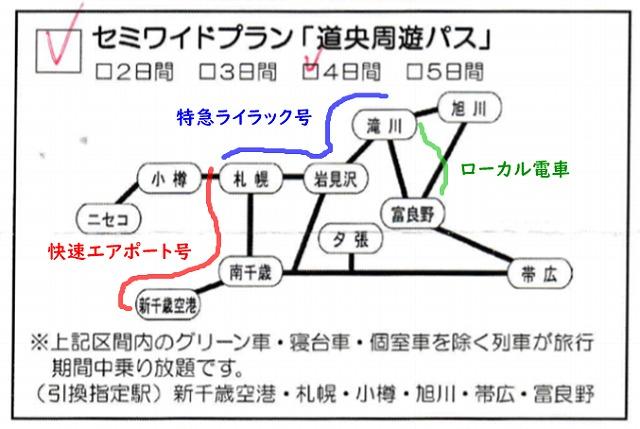 新千歳空港から富良野まで電車で行く