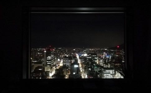 ホテル日航札幌の夜景