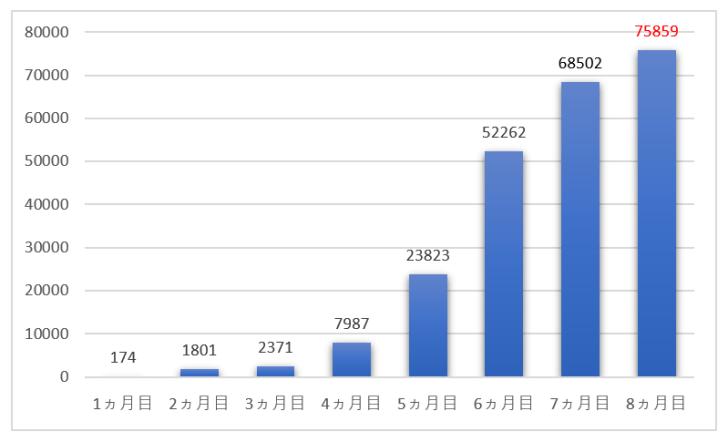 ブログ8ヵ月目のPV・アクセス数