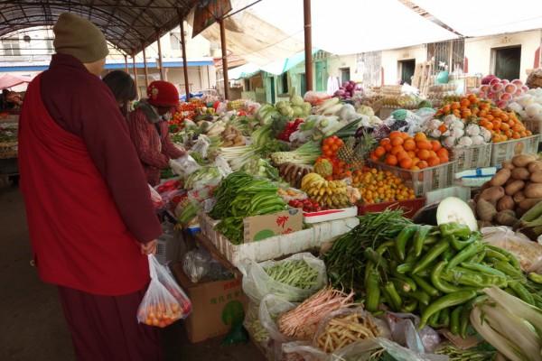 色達市場・野菜