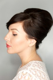 bouffant updo hair tutorial - keiko
