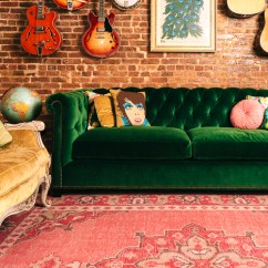 Pink Throw Pillows For Sofa Singapore Leather Green Velvet Tufted And Rug