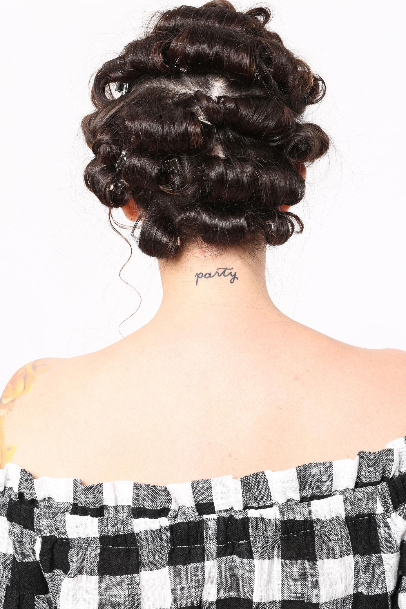 vintage pin curls diagram visio 2013 erd holiday hairstyle retro waves hair tutorial