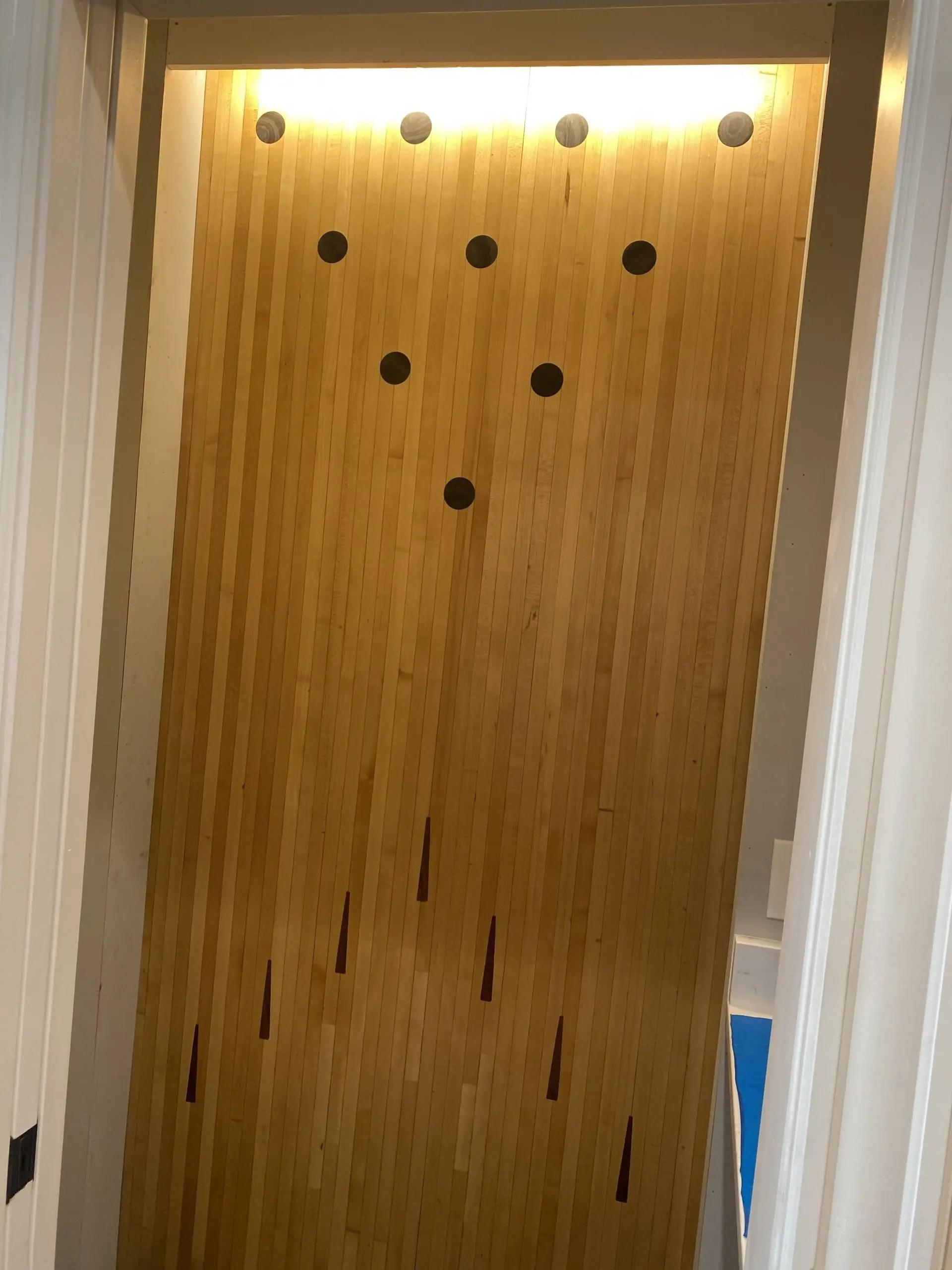 Custom Bowling Alley Bathroom Wall