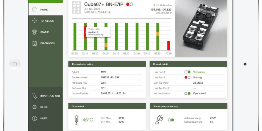 CUBE Diagnose Systemmeldung im Überblick