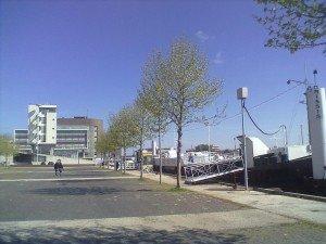 Zukünftig immer so leer - der Platz vor den Coffeeshop-Booten Mississippi und Smokey - Foto: Antonio Peri