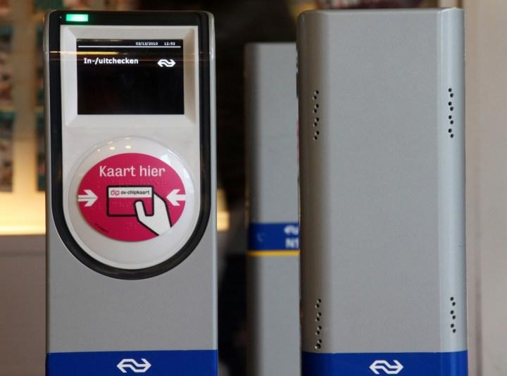 Chipkart-Station zum ein-/auschecken