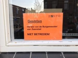Betreten verboten via De Orkan