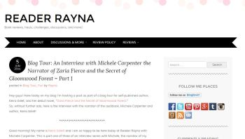 Blog Tour Stop: Interview with Michele Carpenter (Narrator) Part 1