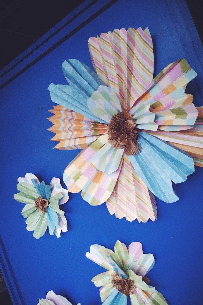 A Pretty Penny | Window Dressing With Paper Flowers