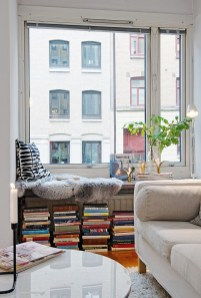 window seat book storage