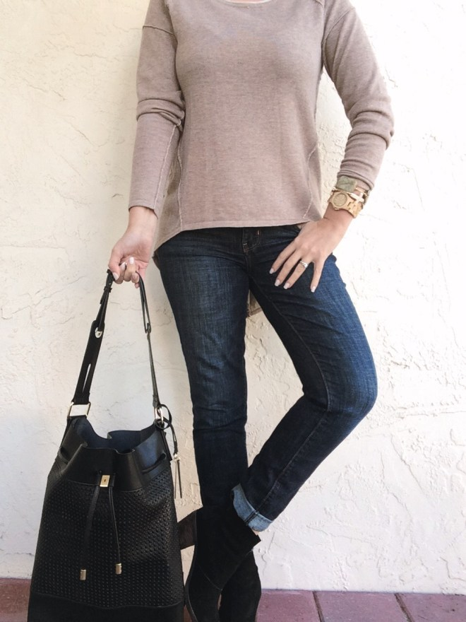 A Pretty Penny OOTD Black and Tan