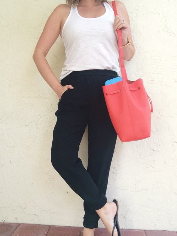A Pretty Penny OOTD J.Crew Turner Pant Target Tank