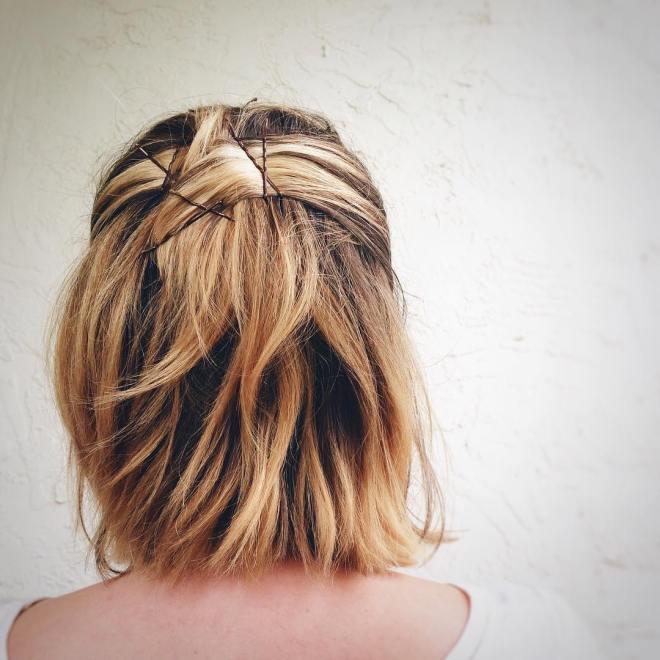 how to style a bob, textured bob, tortoiseshell hair color, modern bob, balayage highlights, brunette highlights