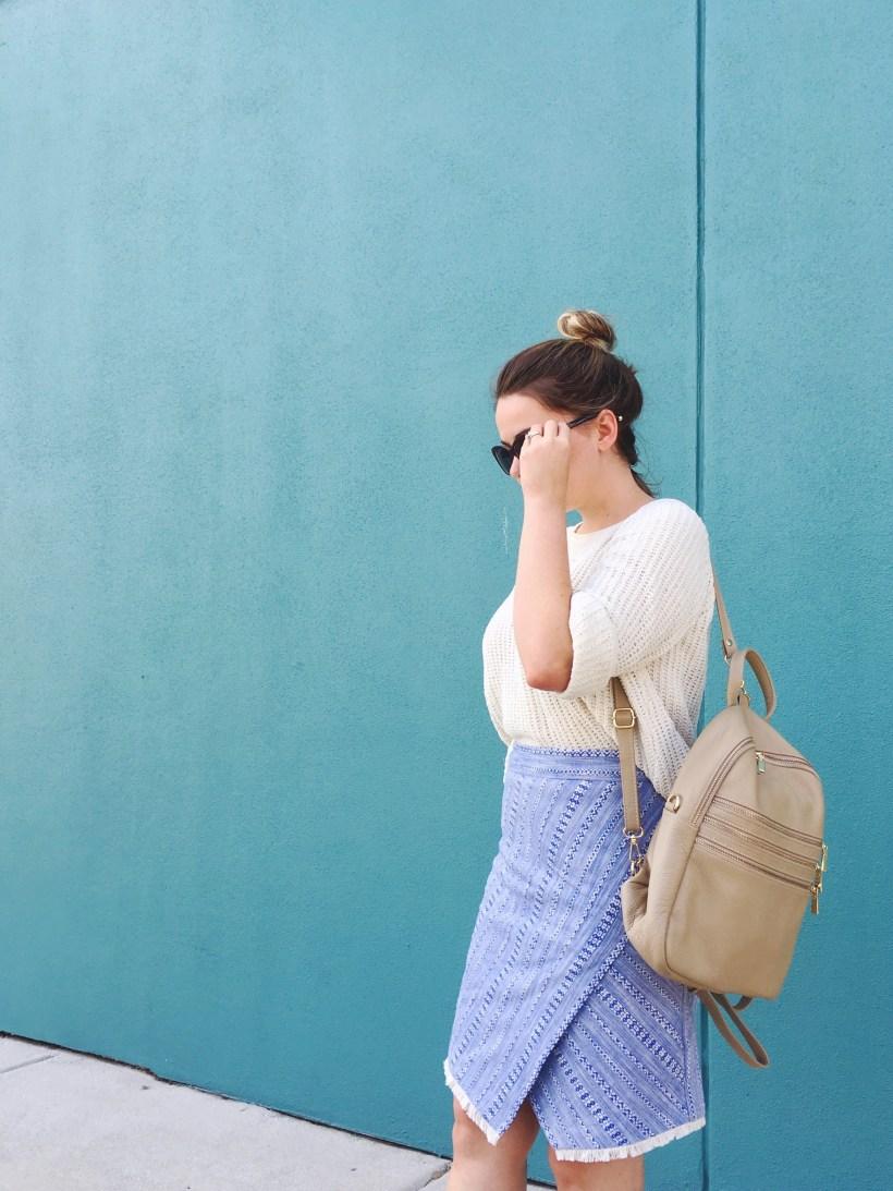 Summer Skirt and Fall Sweater, Seasonal Style