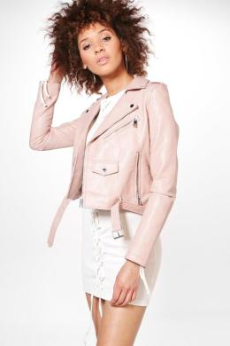 boohoo Gemma Boutique Belted Faux Leather Biker Jacket • Boohoo • $80