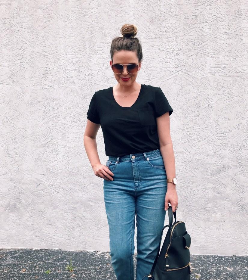 ASOS Farleigh Slim Mom Jeans in Prince Wash, Modern Mom Jeans, High Waist Denim Trends, Style Blog