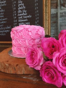 Pink Rosette Cake, Sugar and Slice Bakery Winter Haven, FL
