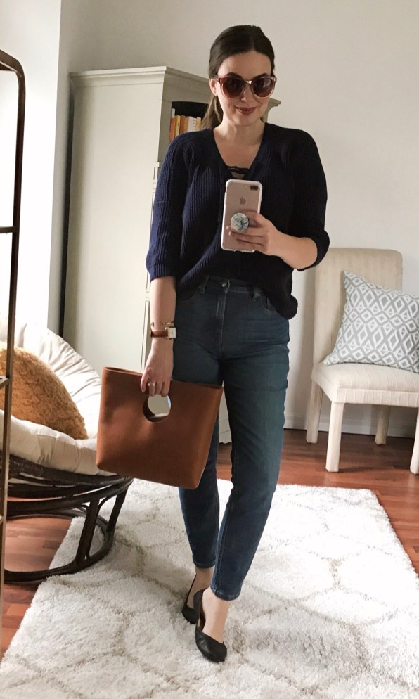 Friday :: m.marie sweater (old) + Everlane jeans + leather ballet flats