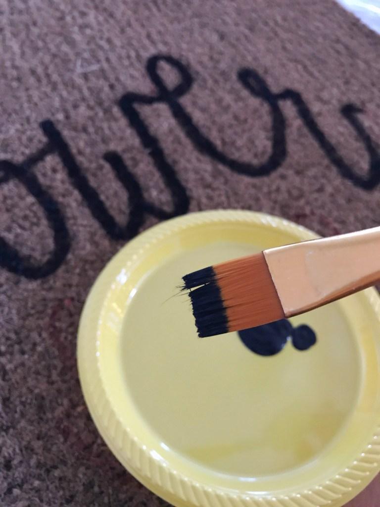 DIY doorstep painting step 2