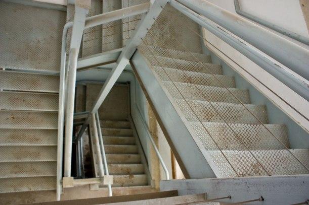 east stairs in my studio's building