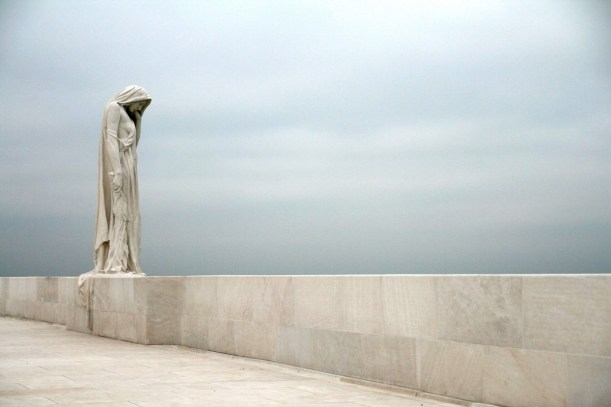 """Sorrow"", otherwise known as Mother Canada, from the memorial at Vimy Ridge"