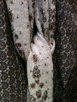 Knitted scarf with jewels, Dries van Noten, Printemps menswear