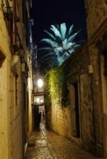Old town lanes at night