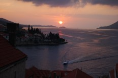 Sunset Korcula from the Bell Tower, St Mark's Cathedral