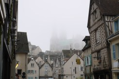 Chartres Cathedral emerging from the mist