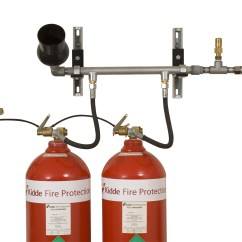 Kidde Kitchen Fire Extinguisher Trash Can Size Co2 Carbon Dioxide Suppression Systems