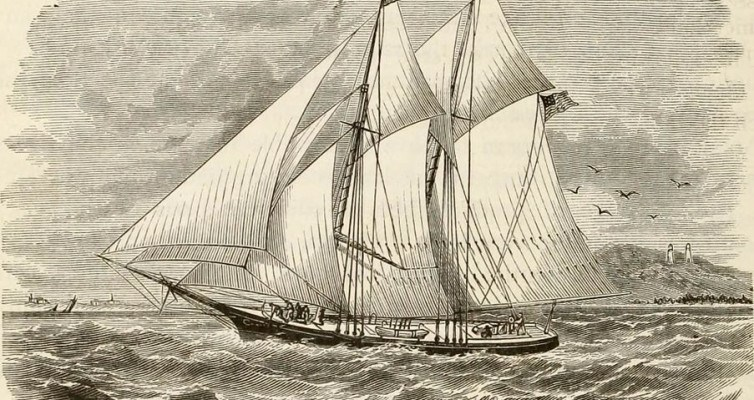 Sketch of Lumber Schooner [Public domain]