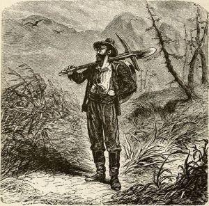 Drawing of California Gold Prospector [Public domain]