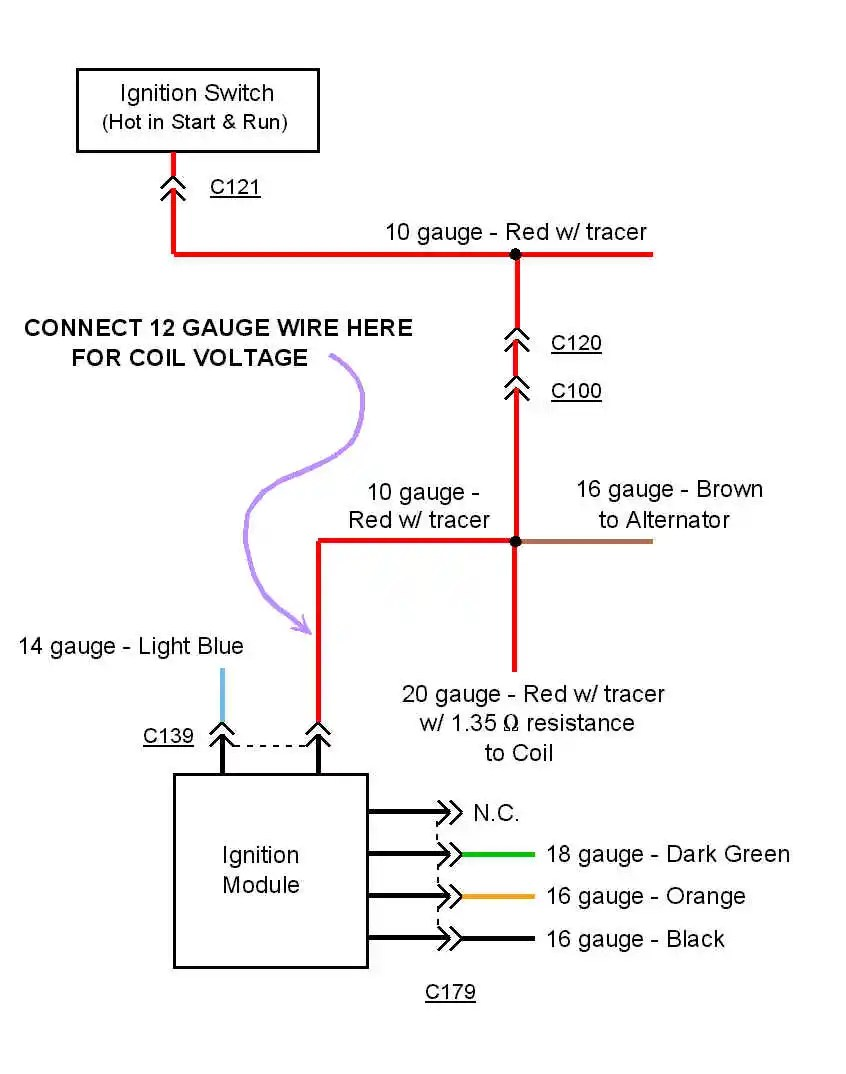 hight resolution of gm hei distributor external coil wiring diagram