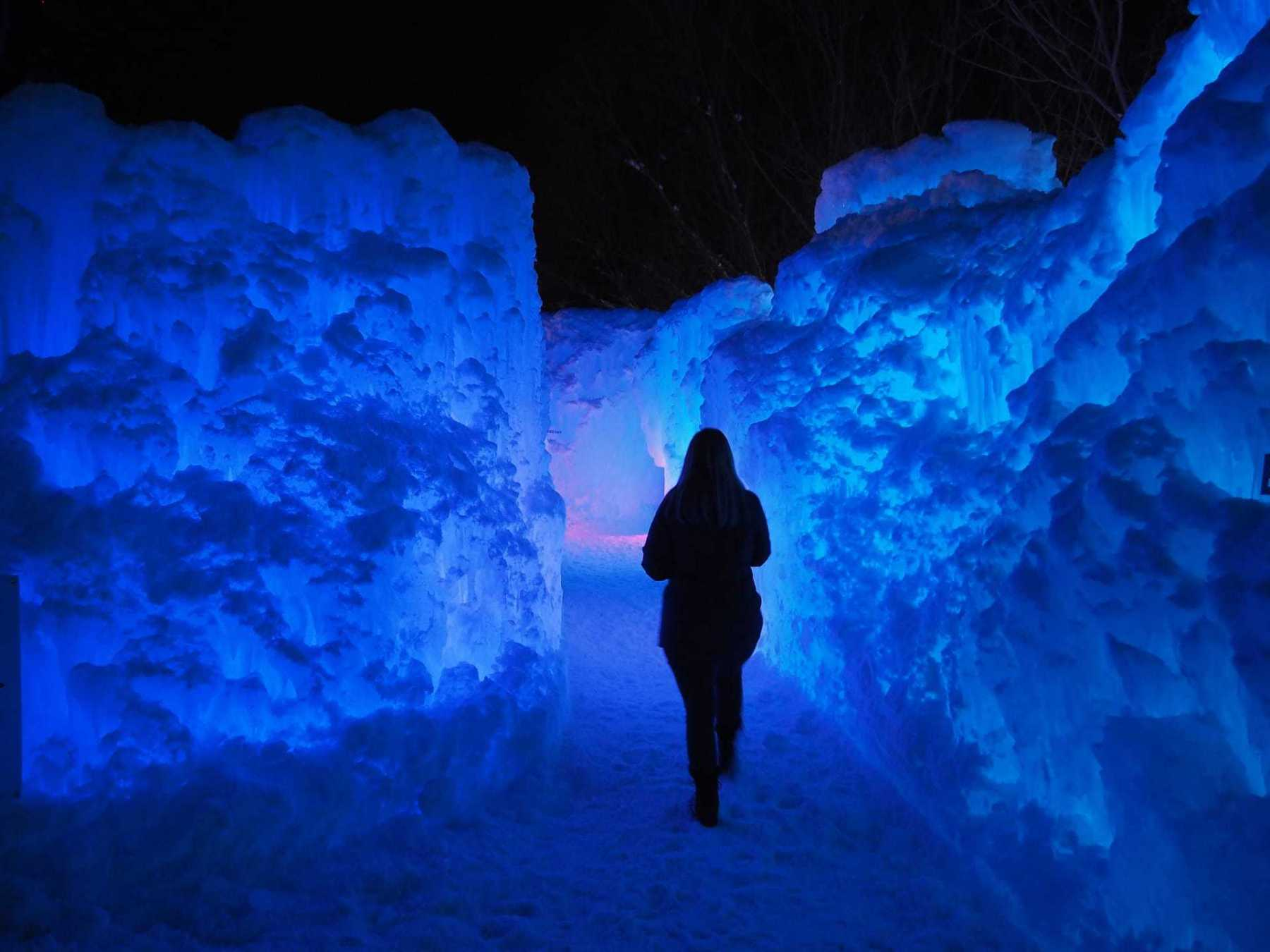 Some areas are like an ice maze