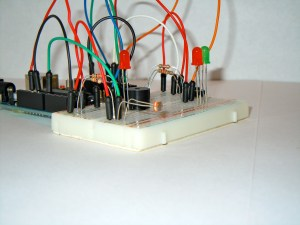 Finished laser trip wire