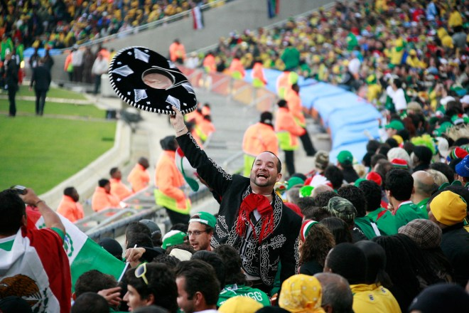 A picture of a Mexican football supporter.