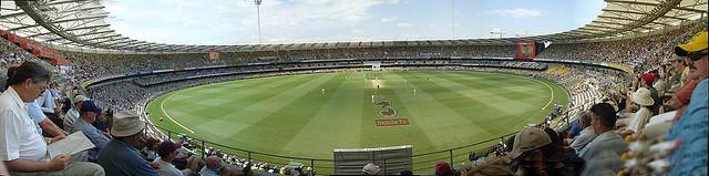 A panorama picture of the Gabba Cricket Ground, Brisbane, Australia.