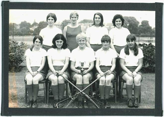Lady Eleanor Holles Scool lacrosse team 1968
