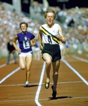 Betty Cuthbert flying at the Melbourne 1956 Games is a feature of Chapter 15 of the book From Athens With Pride, written by Harry Gordon and launched in Sydney on 9 May 2014.