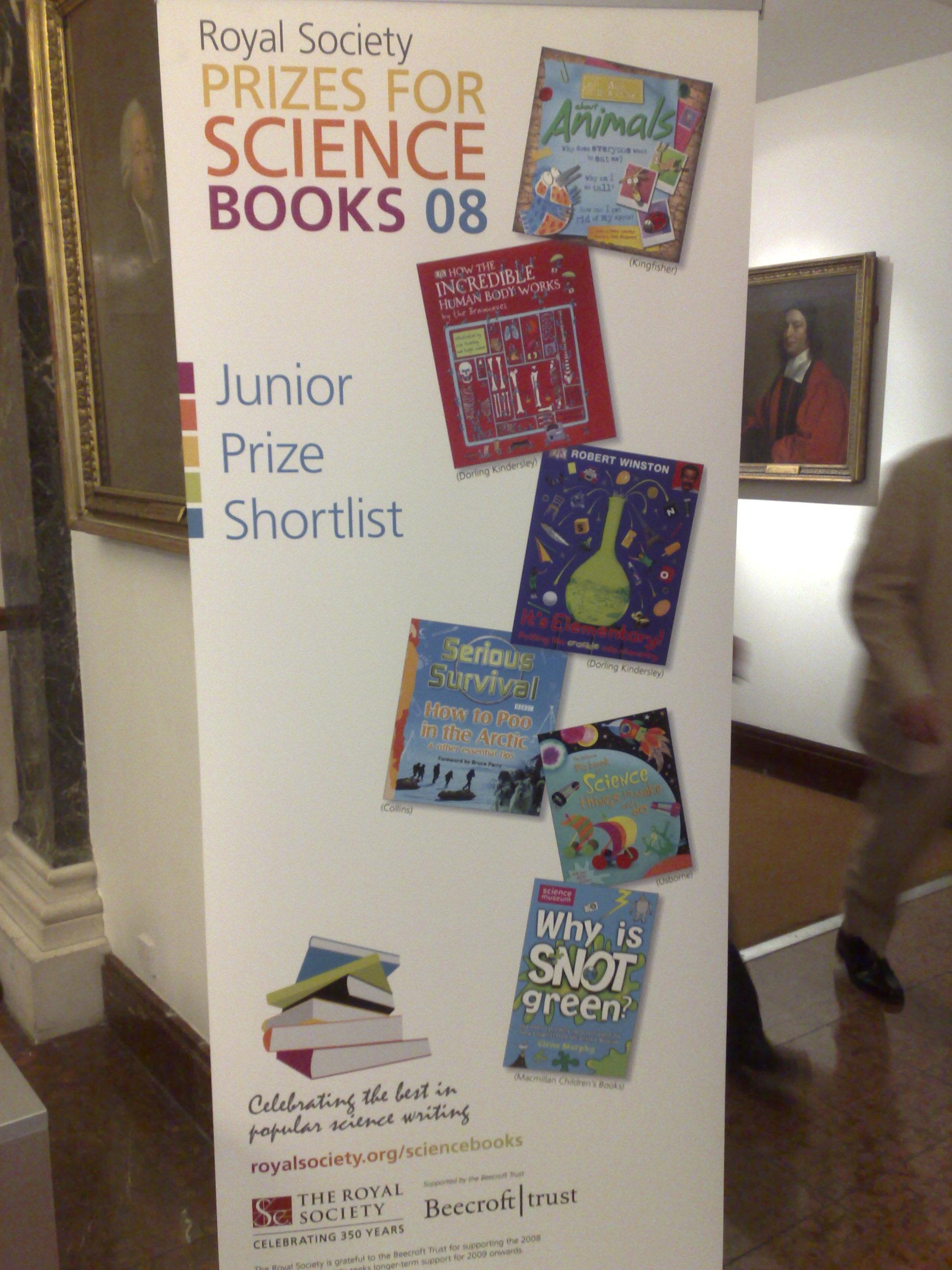 Royal Society Junior Prize Shortlist