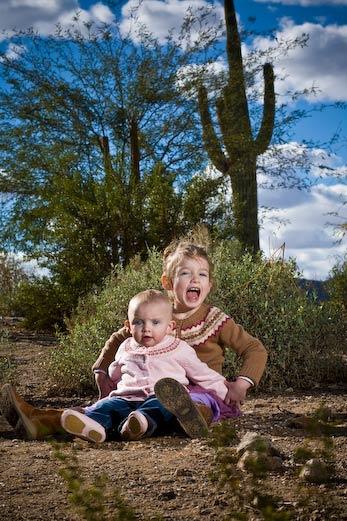 kids in the desert