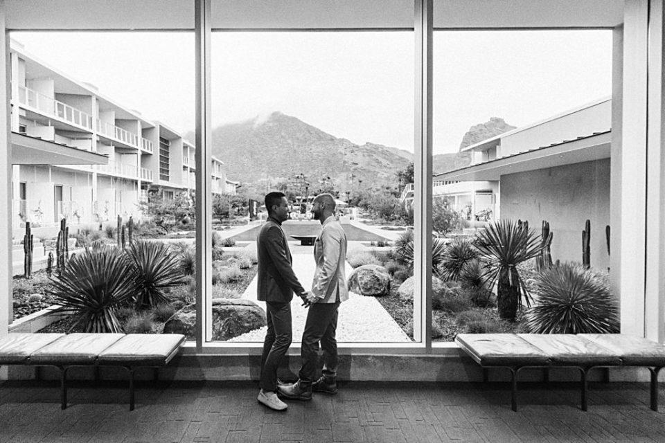 gay wedding mountain shadows