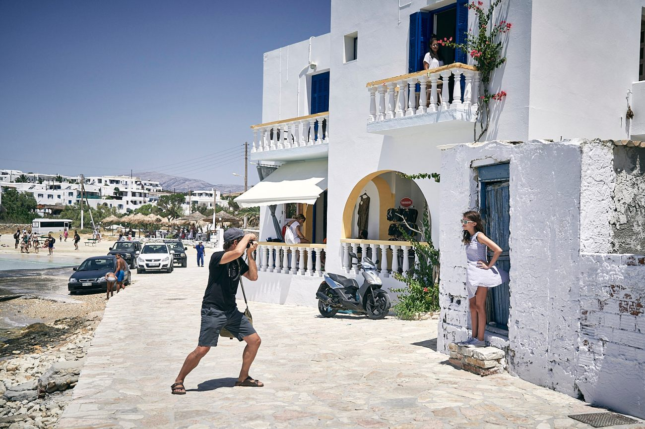 Keith photographing our daughter in Koufonisia, Greece this summer, photo by me