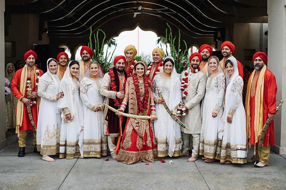 Sikh wedding Phoenix wedding party