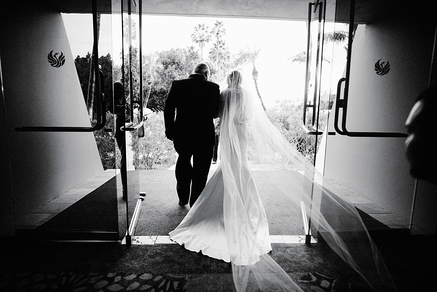 bride and father wedding at the Phoenician