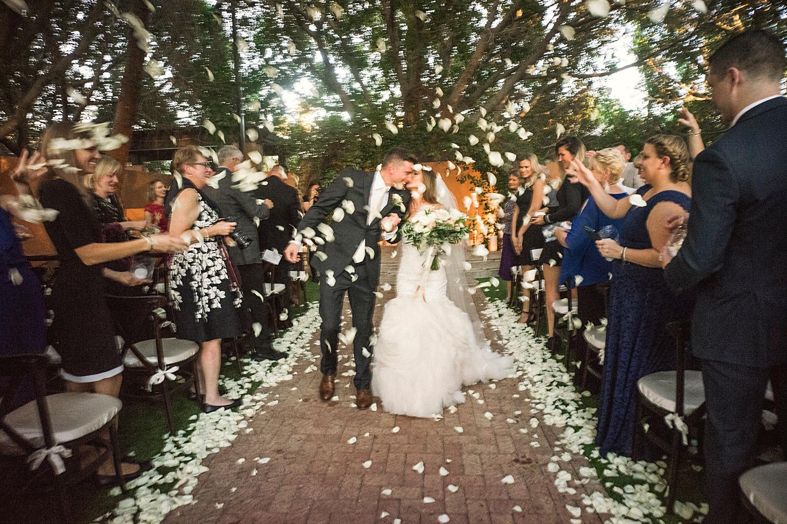 wedding in the Algeria garden at the royal palms resort phoenix