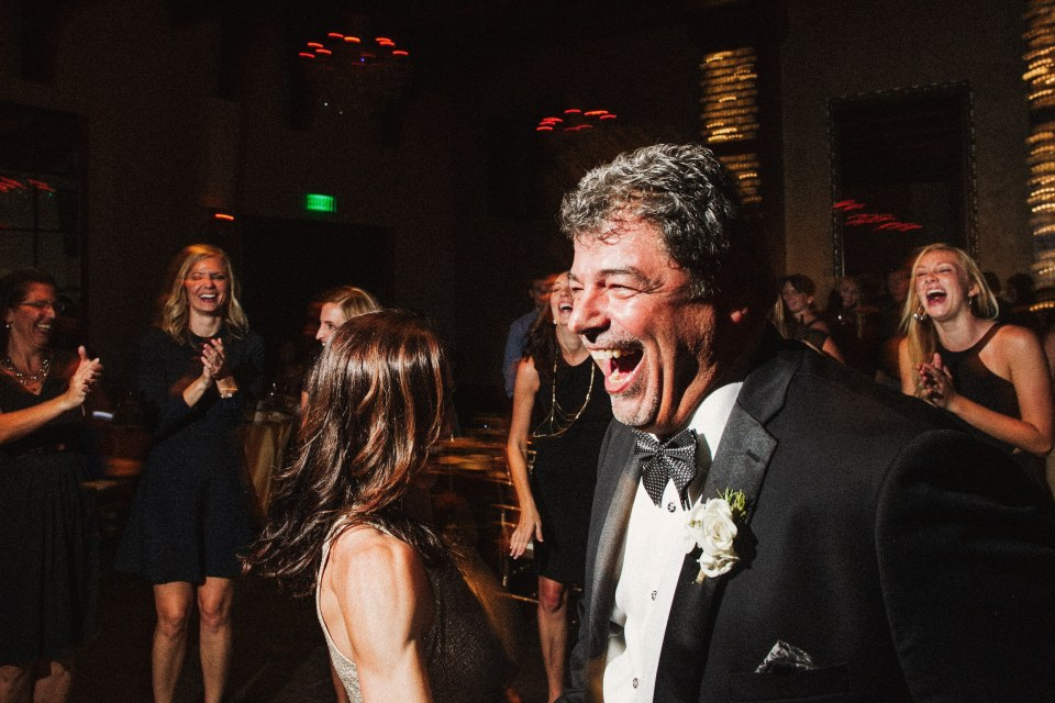 father of the bride on the dance floor